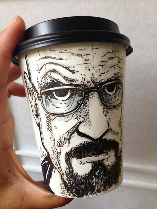coffee cups 2 Najinteresantniji crteži na kafama