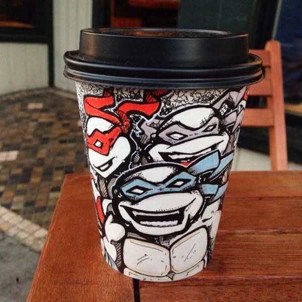 coffee cups 4 Najinteresantniji crteži na kafama