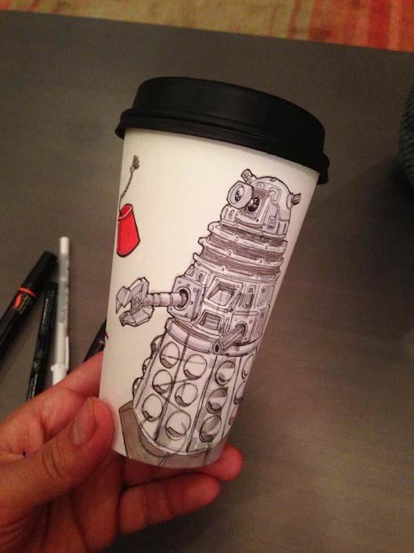 coffee cups 7 Najinteresantniji crteži na kafama