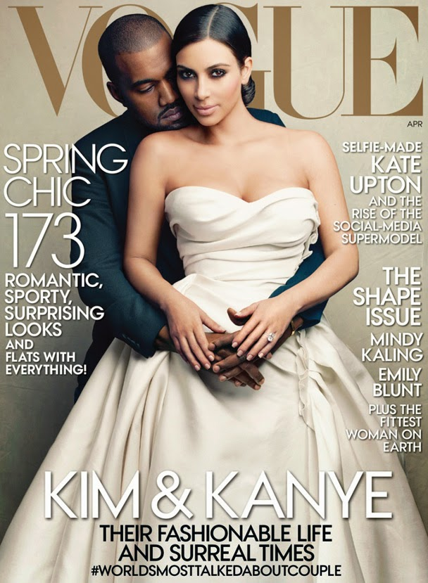 kanye and kim vogue 2014 Još uvek aktuelno: Zašto Kimje na naslovnici magazina Vogue?