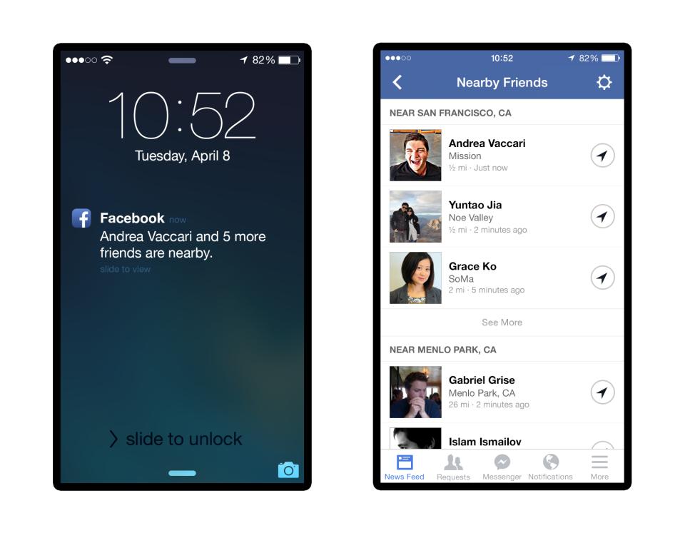 nearby friends press 1 Facebook ima novu aplikaciju: Ko ti je u blizini?