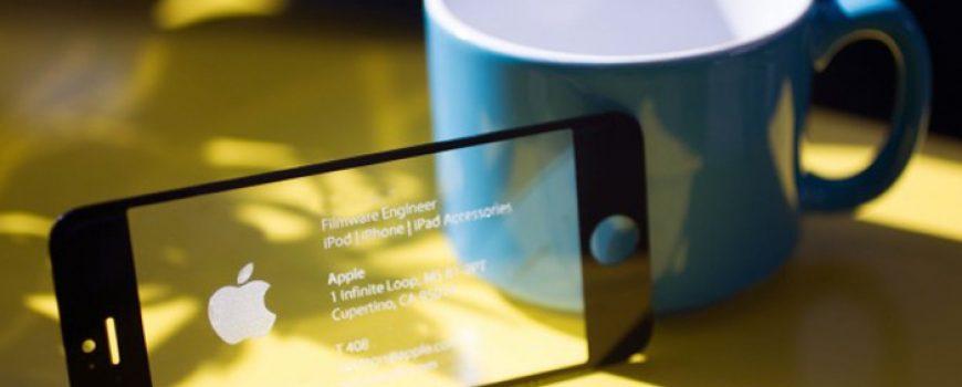 Fensi tehnologija: Vizit karta od ekrana za iPhone