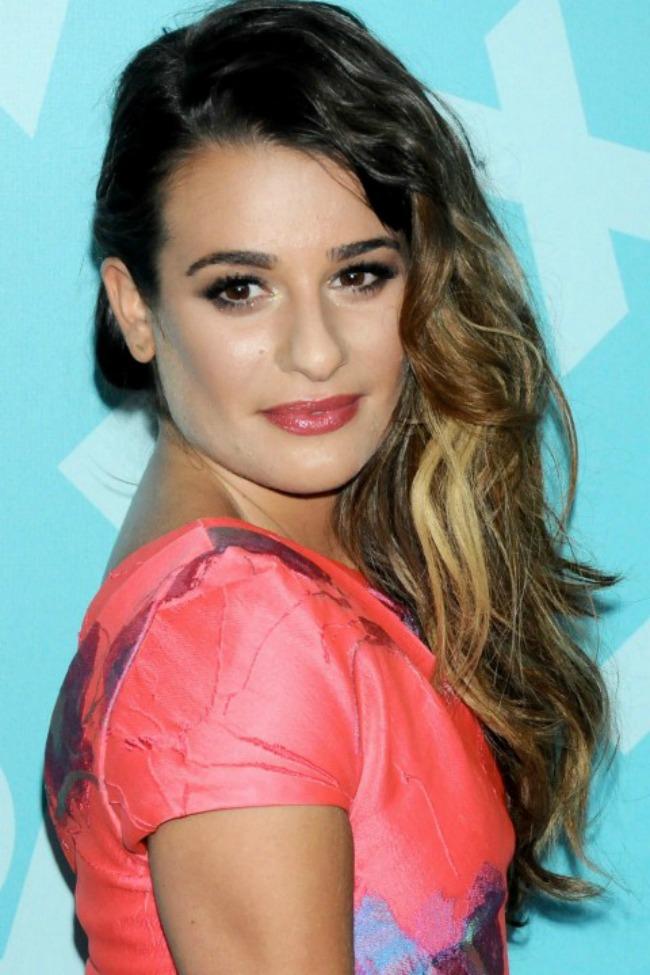 3 Lea Michele Novi stari beauty trend: Ombre efekat na kosi