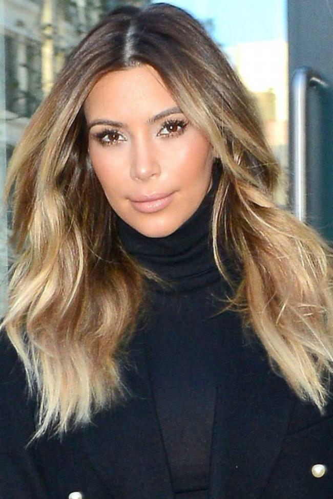 6 Kim Kardashian Novi stari beauty trend: Ombre efekat na kosi