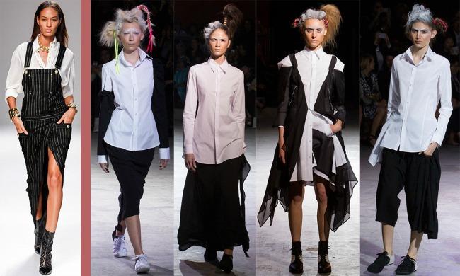 Balmain YYamamoto Šta kaže catwalk: Sva njena lica – slučaj košulja!