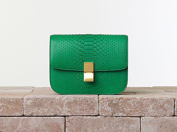 Celine Classic Box Bag in Python in Grass Trend alarm: Šarene tašne Céline