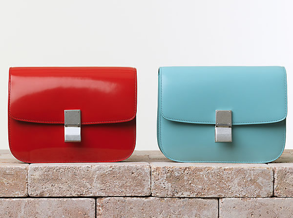 Celine Classic Box Handbag in Vermilion and Azur Trend alarm: Šarene tašne Céline
