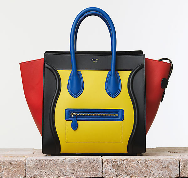 Celine Luggage Handbag in Smooth Calfskin Tricolor Trend alarm: Šarene tašne Céline