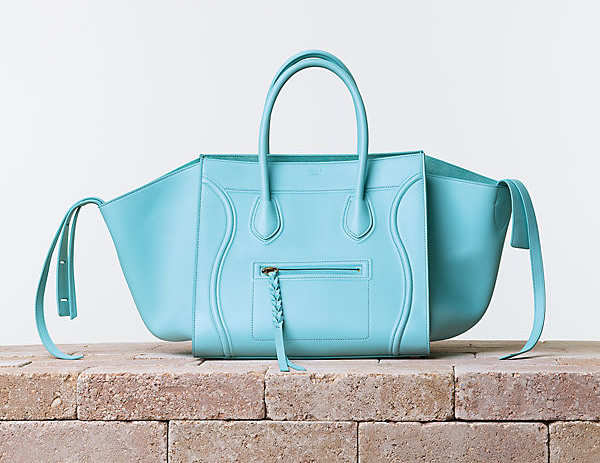 Celine Luggage Phantom in Nappa Calfskin Azur Trend alarm: Šarene tašne Céline