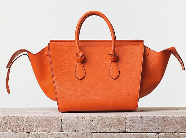Celine Tie Handbag in Crisped Calfskin Bright Orange Trend alarm: Šarene tašne Céline
