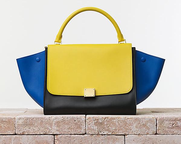 Celine Trapeze Handbag in Smooth Calfskin Sunflower Trend alarm: Šarene tašne Céline