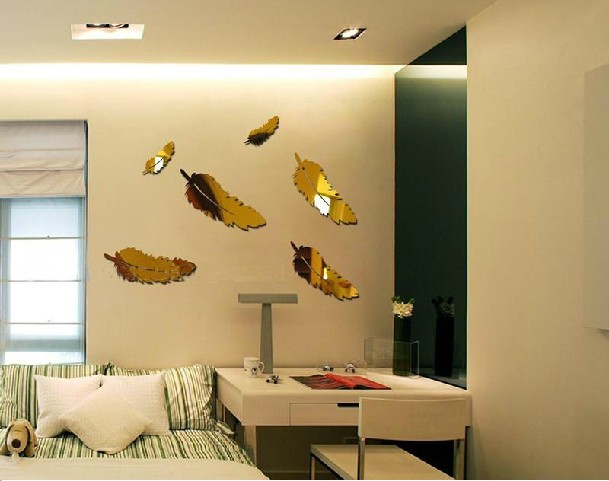 Crystal three dimensional wall stickers home decoration wall font b hangings b font font b mirror Feng Šui saveti: Donesi ljubav u krevet