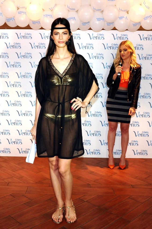 Danijela Dimitrovska Amidzic stajling za plazu Gillette Venus, otkrijte boginju u sebi!