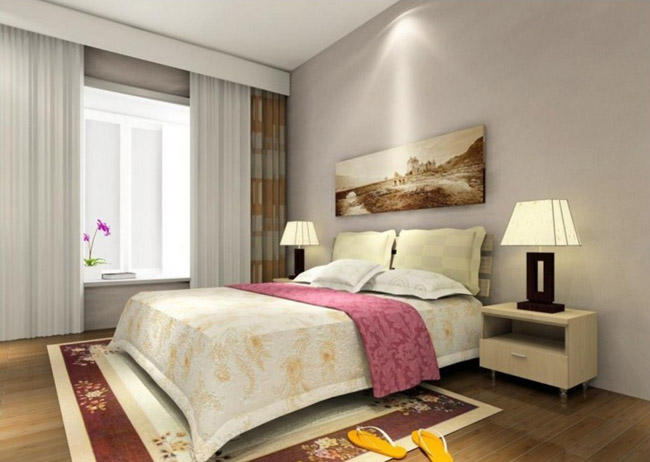 Elegant bedroom curtains and bedside lamps Feng Šui saveti: Donesi ljubav u krevet