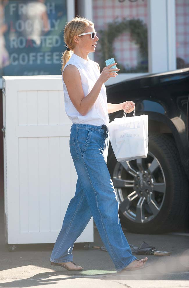 Gwyneth Paltrow Shopping LA Modni Comeback: Kevine farmerke
