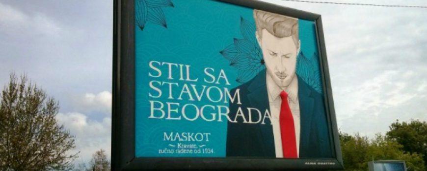 Stil sa stavom Beograda: Jedinstven bilbord urađen slikarskom tehnikom