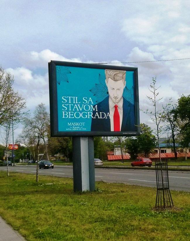 Stil sa stavom Beograda Maskot McCann Beograd I Stil sa stavom Beograda: Jedinstven bilbord urađen slikarskom tehnikom