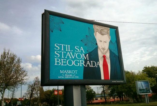 Stil sa stavom Beograda Maskot McCann Beograd II Stil sa stavom Beograda: Jedinstven bilbord urađen slikarskom tehnikom