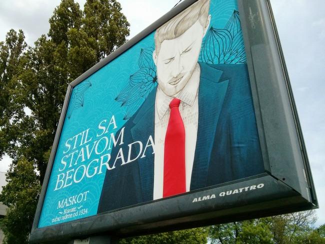 Stil sa stavom Beograda Maskot McCann Beograd III Stil sa stavom Beograda: Jedinstven bilbord urađen slikarskom tehnikom