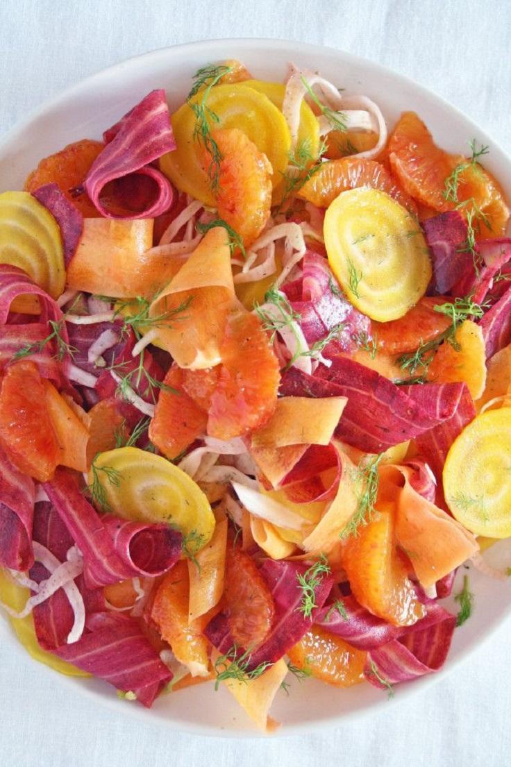 Summer salad with beets carrots fennel and blood orange Prste da poližeš: Lagane letnje salate