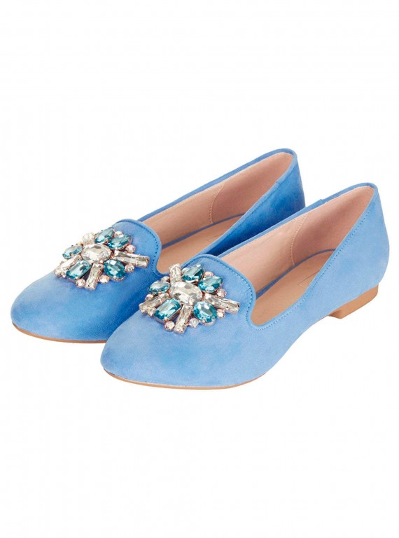 Topshop moonstone jewelled slippers Modni trend: Mokasine