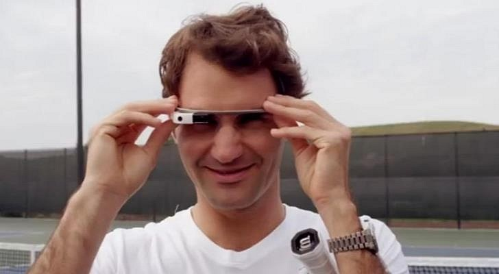 Watch Roger Federer and Stefan Edberg Play Tennis Through Google Glass Tech Up: Naočare sa kojima vidite Federerovu perspektivu