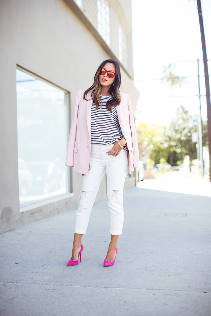 aimee song pink blazer 2 Šta nose modne blogerke: Leto i stil