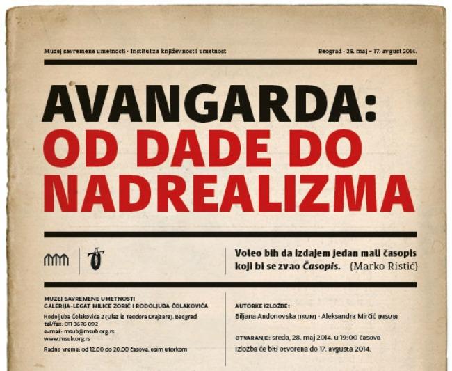 e poz Vreme je za umetnost: Avangarda: Od dade do nadrealizma