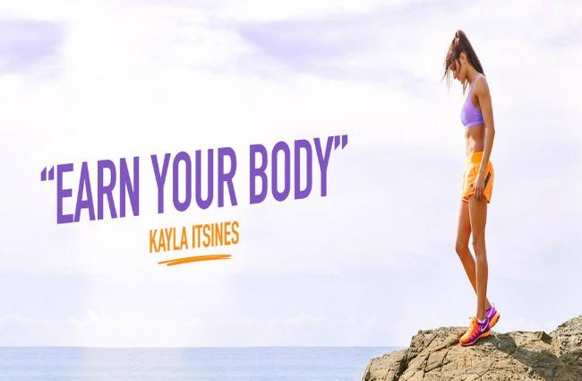 earn your body Fitnes guru: Kajla Itsines