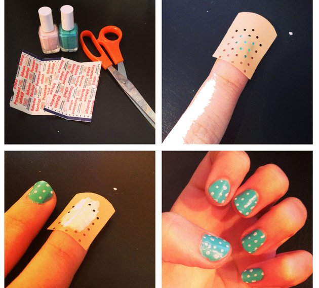 embedded polka dot nail art Beauty saveti: Trikovi za mudre lepotice