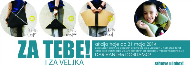 veljko 08 Akcija Kupi torbu   pokloni sebi, pomozi Veljku