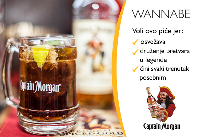 Captain Morgan rad Napravi svoj savršen mix: Captain Cola