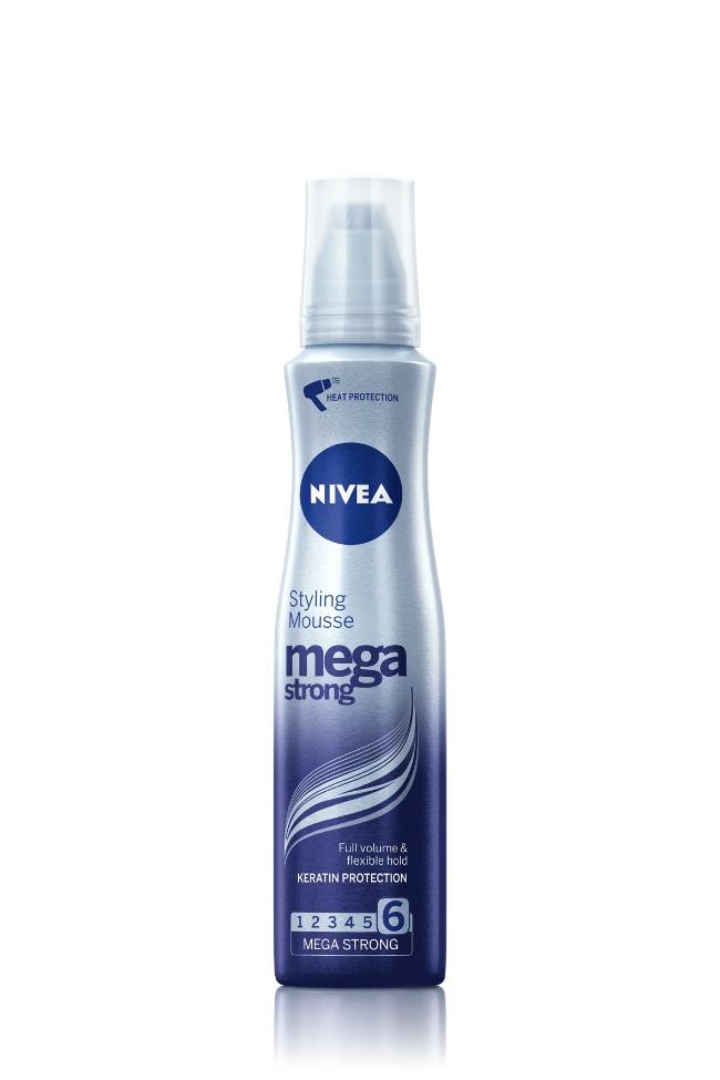 NIVEA Mega Strong Styling Mousse Stilizovanje kose: Najčvršća frizura do sada