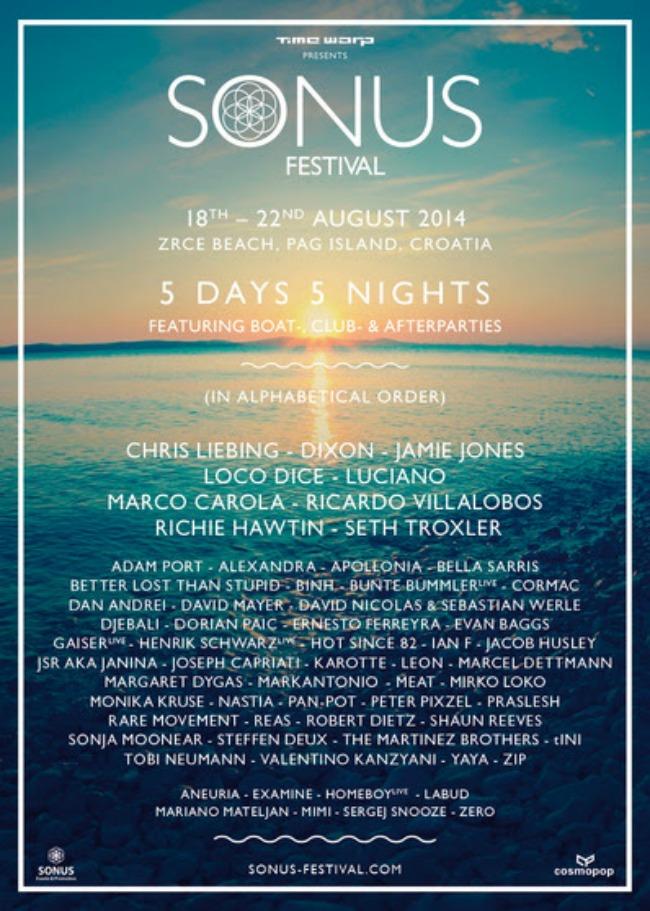 SONUS FESTIVAL 2014 Ne propustite: Sonus Festival 2014