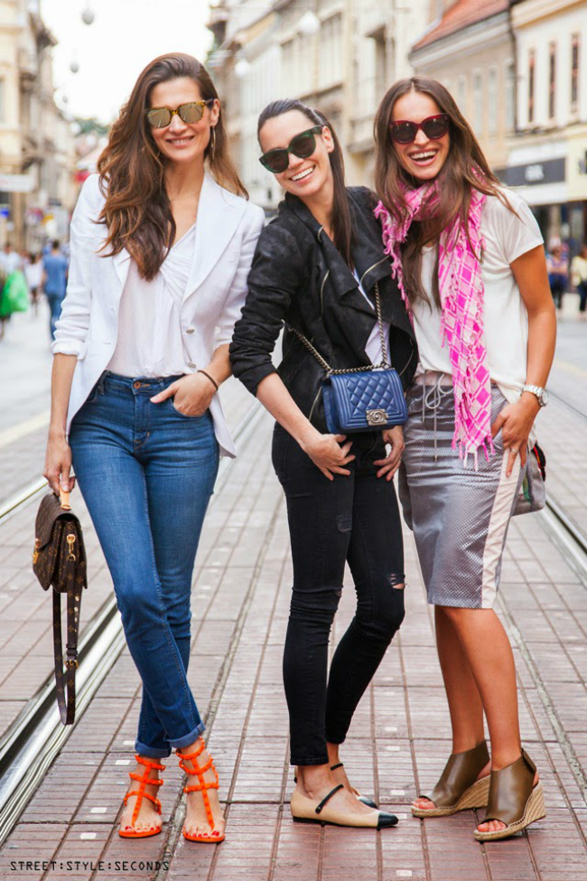 Tri drugarice Street Style Zagreb: Bez osmeha nikuda!