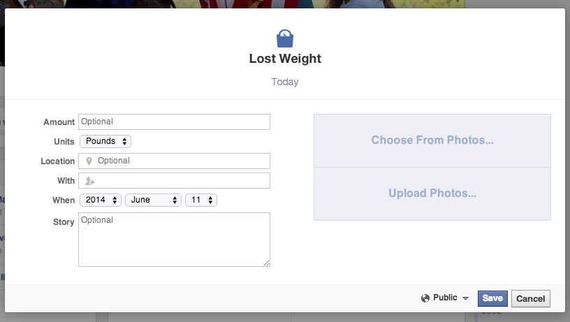Wieight Loss Life Event Virtuelni svet: Facebook dijeta