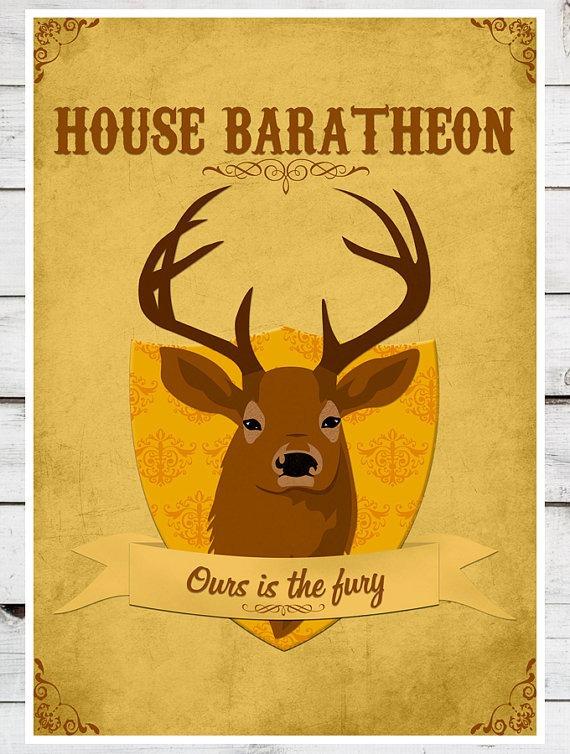 house baratheon Dekoracija doma: Ukrasi za ljubitelje serije Igra prestola