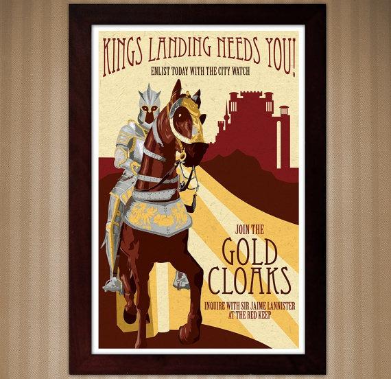 kings landing recruit Dekoracija doma: Ukrasi za ljubitelje serije Igra prestola