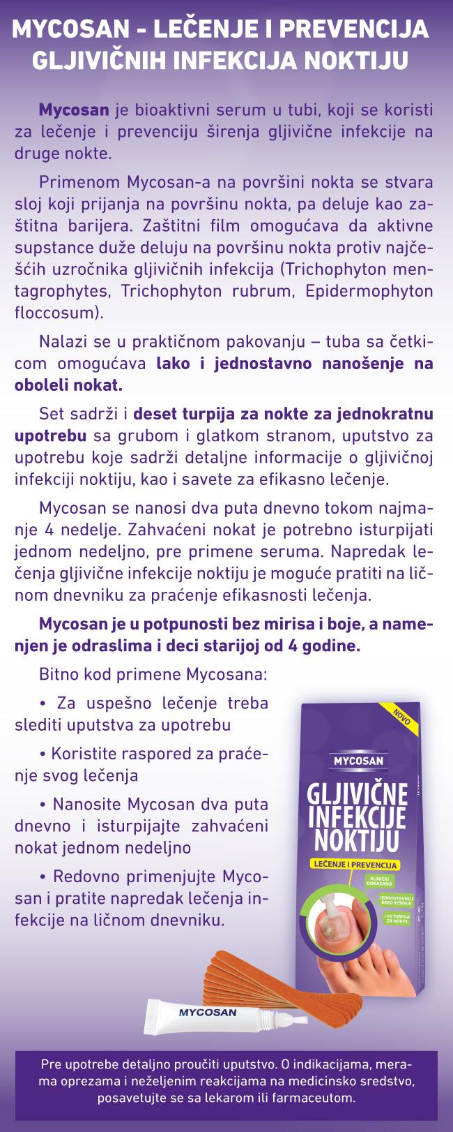 mycosan Rešite se gljivičnih infekcija noktiju!