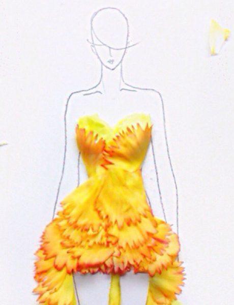 Moda i umetnost: Haljine od pravog cveća