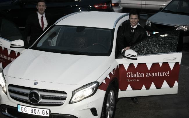 za medije 4 GLA Mercedes: Dolazak u velikom stilu