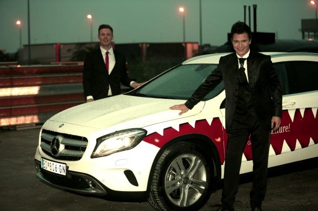 za medije 8 GLA Mercedes: Dolazak u velikom stilu