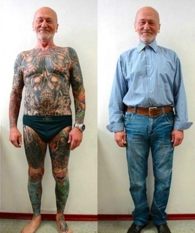 09 6FrAfnh 620x Otkačen svet: Bake i deke sa tetovažama