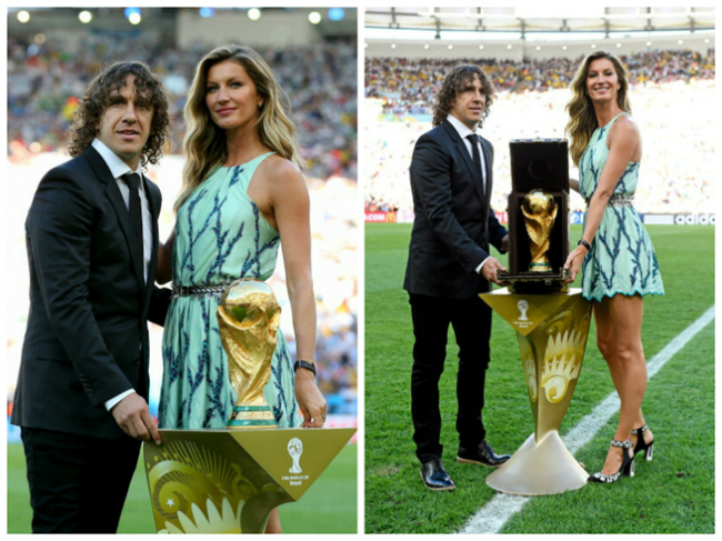 2014 World Cup Final Gisele Bundchen Unveils Trophy In Louis Vuitton Case 2 Modne vesti: Dolce&Gabbana, moda i fudbal, stil Mišel Obame