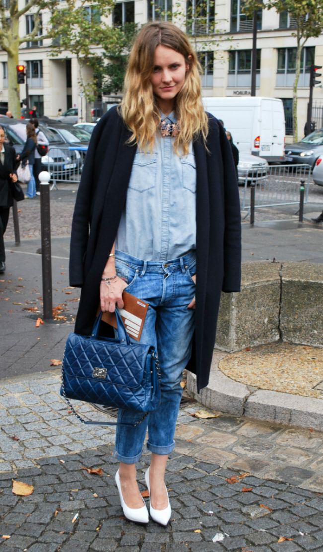 2 denim on denim Modni trendovi: Kako da nosite boyfriend jeans