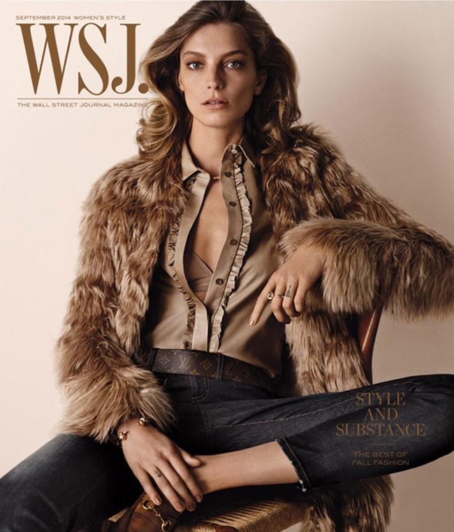Daria Werbowy WSJ Magazine September 2014 Cover Modne vesti: Behati Prinslu, Darija Verbovi i Lui Ven