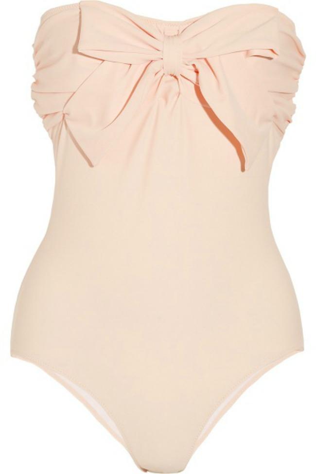 Jednodelni u boji kajsije Trendovanje: Retro kupaći kostimi