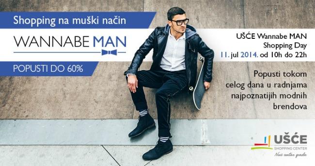 Shopping day usc site1 Ušće Wannabe Man Shopping Day  11. jul 2014.