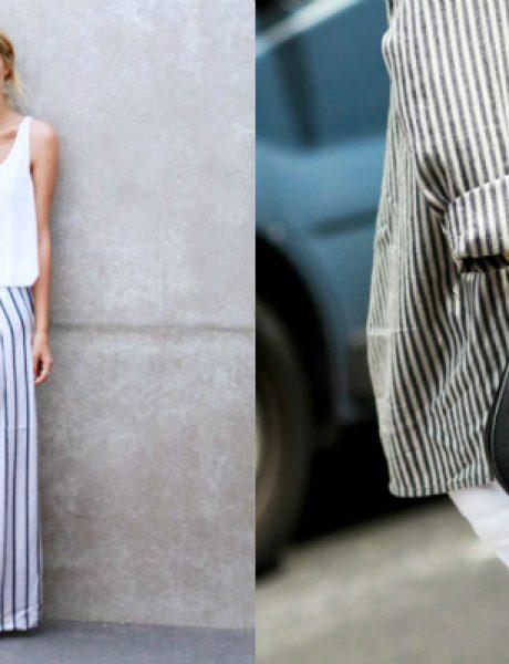 Modni trendovi: Kako da kombinujete prugice