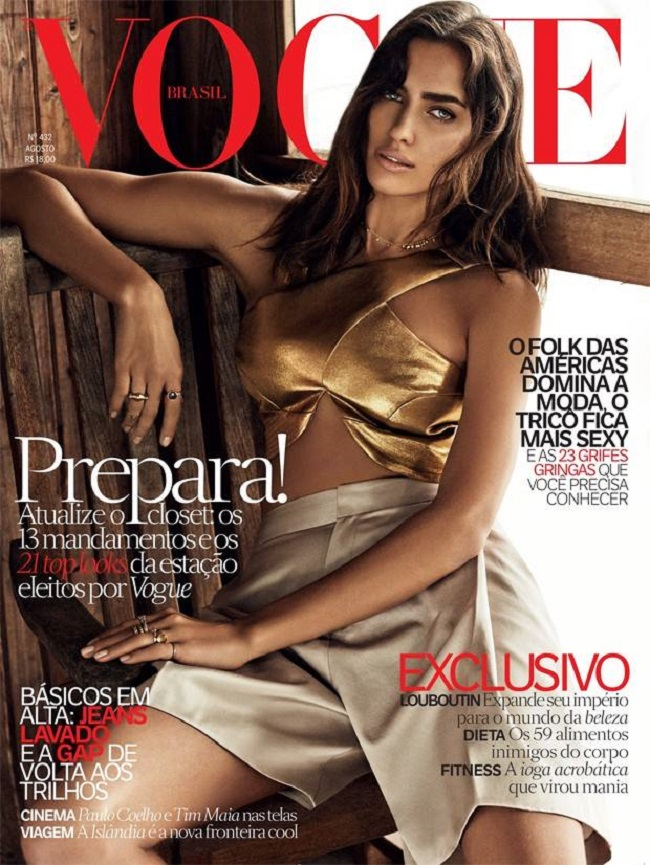 irina shayk vogue brazil 2014 cover 1 Modne vesti: Just Cavalli, Irina Šajk i Rouzi Hantington Vajtli